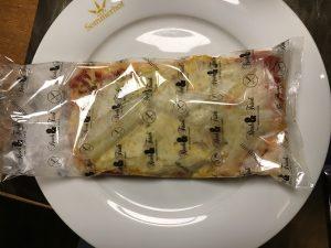 Glutenfreie Pizza in Verpackung